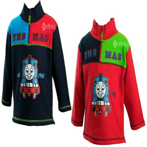 Boys Thomas The Tank Engine Fashionable Half Zip Cotton Top Ages 1-4 Years