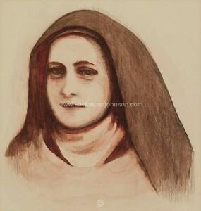 ST-THERESE-of-LISIEUX-Saint-Theresa-sepia-11x14-034-Catholic-Art-Archival-Print
