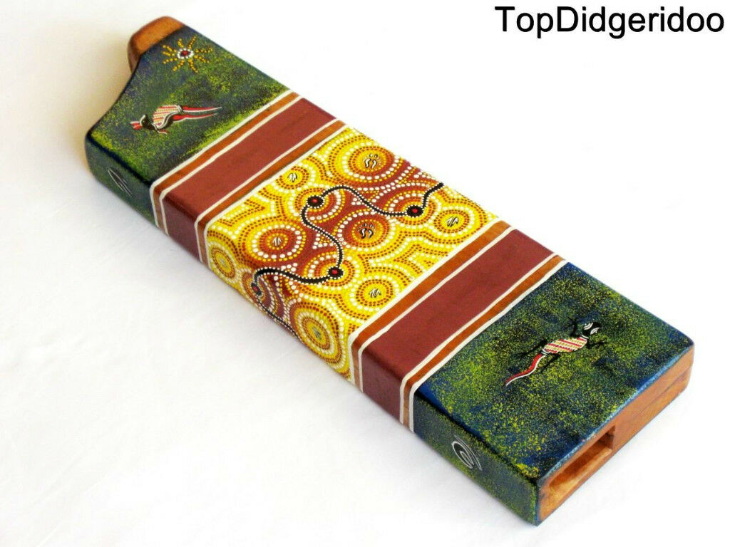 Box Didgeridoo+Bag Hand Carved Dot-painted Mahogany Wood Travel Compact DidgBox
