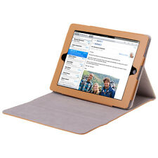 Slim Fit Folio PU Leather Smart Cover Case Stand For For Apple iPad 4 3 2 Brown