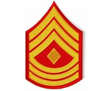 "(00) USMC FIRST SERGEANT CHEVRON 3"" x 4.7"" iron on patch (5813) Military"