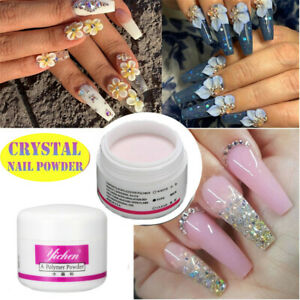 clear pink acrylic powder nails  different nail designs