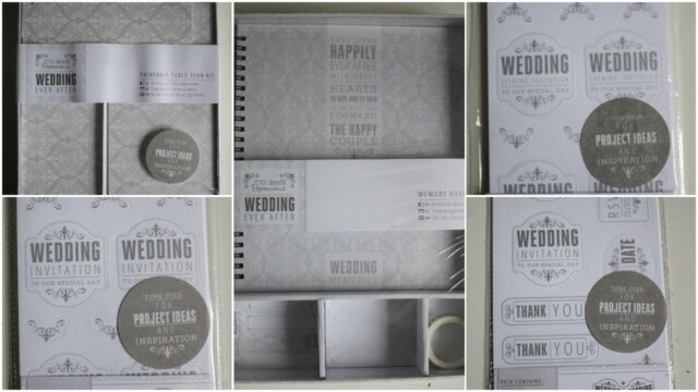Papermania Docrafts Damasco Matrimonio Ever After Range-tavola, inviti, MEMORY BOOK