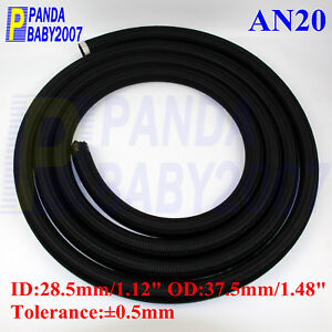 16 NYLON STEEL BRAIDED OIL FUEL GAS radiator LINE HOSE 9.8FT/3M black AN16 AN Auto Performance Parts