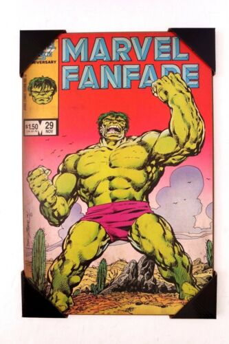 Marvel Fanfare #29 Hulk Comics Silver Buffalo Wood Wall Decor Art Avengers