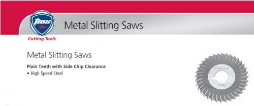 "5/""Diameter 3//32/""Wide 1/""Hole Slitting Saw Plain Teeth w//Side Chip Clearance"