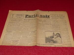 PRESSE-WW2-GUERRE-39-45-PARIS-SOIR-Toulouse-7176-26-AOUT-1943-Tres-Rare