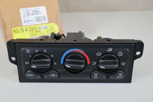 GM OEM-Dash Climate Control Unit HVAC Heater A//C Fan 22718118