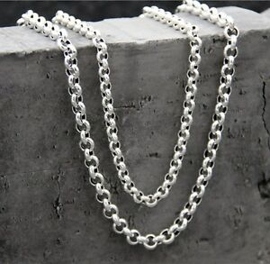 20-034-Pure-925-Sterling-Silver-Necklace-5mm-Rolo-Link-Chain-Stamped-S925