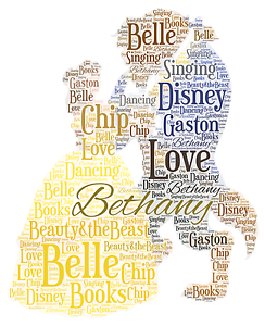Image Is Loading Personalised Word Art Print Beauty Beast Belle Princess