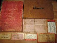 Vtg Starrett No 445 Micrometer Depth Gage Set In Original Case Box Amp Paperwork