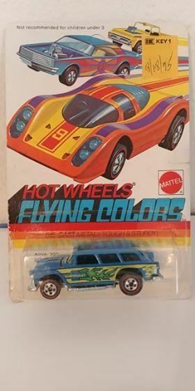RARE  caliente ruedaS aternate ColoreeeE AZZURRO VIVO'55 Nuovo di zecca autodato 1974