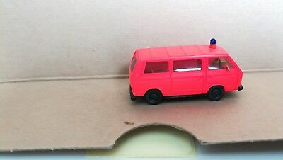 UU2611 HERPA 091848 VW T3 Bus Feuerwehr OVP 1:87