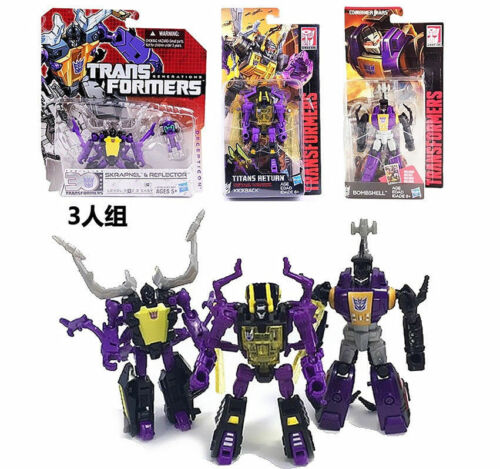 3 Pieces Transformers Legends Insecticons Bombshell Shrapnel Kickback Toy Figure