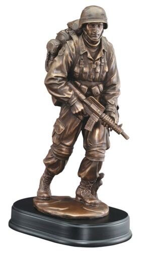"""Free Engraving. Patrol Soldier Statue Trophy Customize US Military 13/"""" Tall"""