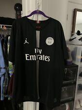 Jordan X Psg Hoodie Size Medium 100 Authentic Black Paris Saint Germain Neymar For Sale Online Ebay