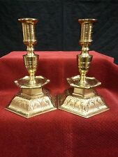 Vtg Pair of Ystad Metall Candleholders Solid Brass Sweden Home Decor Gift RARE