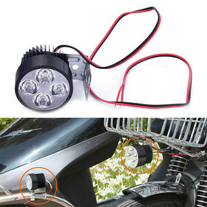 Universal Motorcycle Motorbike 12V-80V 50W External 4LED Headlight Spot Lamp
