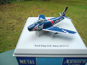 ARMOUR-FRANKLIN-MINT-ARMOUR-1-100-AVION-F-J-3-FURY-U-S-NAVY-034-MINT-IN-BOX