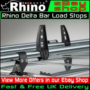 Citroen-Relay-Roof-Rack-Bars-Rhino-Load-Stops-2-Pairs-For-Delta-2006-2019-Van