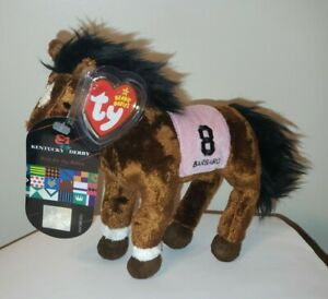 TY Beanie Baby  BARBARO the Horse (Kentucky Derby Version w/Extra Hang Tag) MWMT