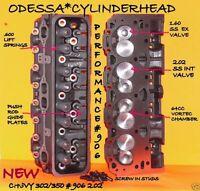 2 Gm Chevy Performance 302 350 906 Straight Plug Iron Vortec Cylinder Heads