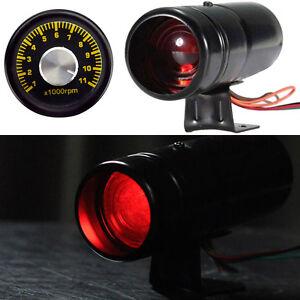 Red-LED-Adjustable-Tachometer-RPM-Tacho-Gauge-Shift-Light-1000-11000-Universal