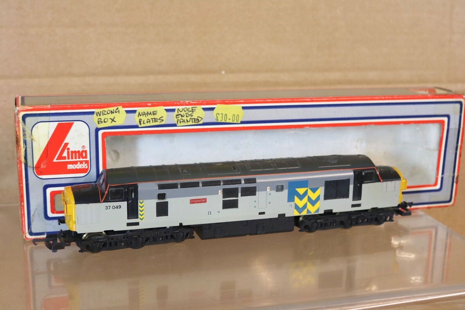 LIMA 205127 REFINISHED BR RAILFREIGHT CLASS 37 LOCO 37049 IMPERIAL np