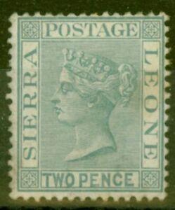 Sierra Leone 1884 2d Gris SG30 Bon Légèrement MTD Excellent État