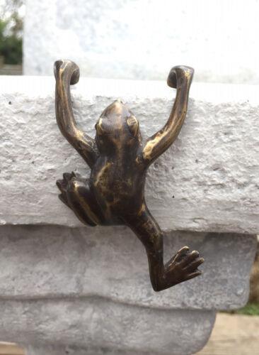 Bronze Skulptur Bronzefigur Frosch zum Hängen 9cm Tier Figur Dekoration Kröte