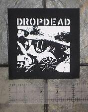 DROPDEAD - DIY Crust Punk Patch Unholy Grave Despise you D-beat Hellnation Nasum