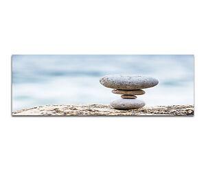 150x50cm stones balance calm steine panorama wandbild. Black Bedroom Furniture Sets. Home Design Ideas