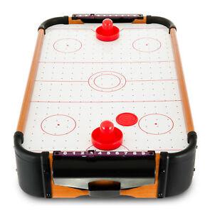 Table Top Air Hockey Battery Operated Pushers Pucks Family Xmas Game Play Set