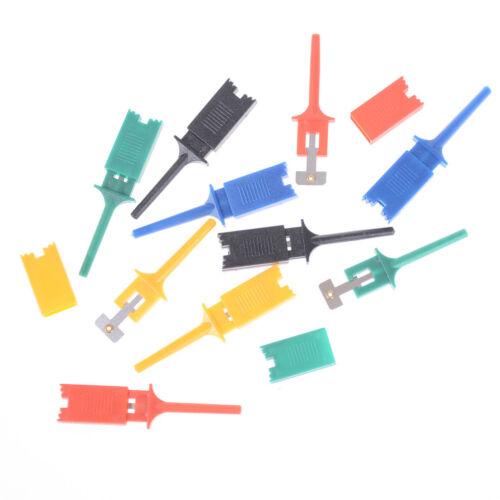 10Pcs Multimeter SMD IC SOIC Mini Test Clip Hook Grabber Probe Jumper 5 colorFmm