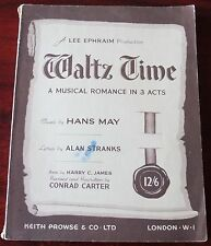 Hans possono & ALAN stranks Waltz tempo VOCAL SCORE (1950) di Londra