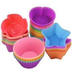 Silicone-Muffin-cas-Cupcake-Moule-de-cuisson-reutilisable-rond-c-ur-etoile-Arbre-Fleur