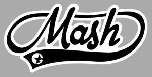 MASH Sticker vinyle laminé doré