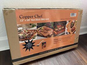Paquete-de-nuevo-cobre-Chef-X-Diseno-Barbacoa-Sarten-12x18-034-BBQ-Parrilla-de-facil-limpieza