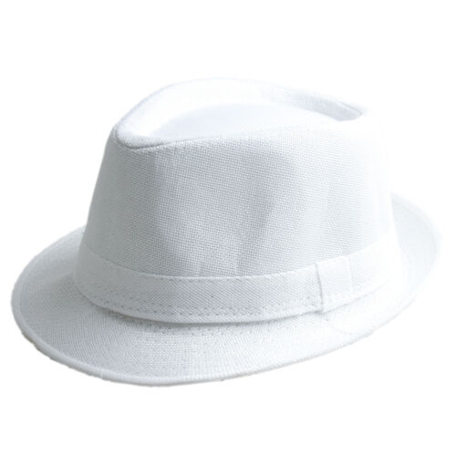 New Unisex Cuban Style Fedora Trilby Hat Gangster Panama Short Brim Cap Sunhat