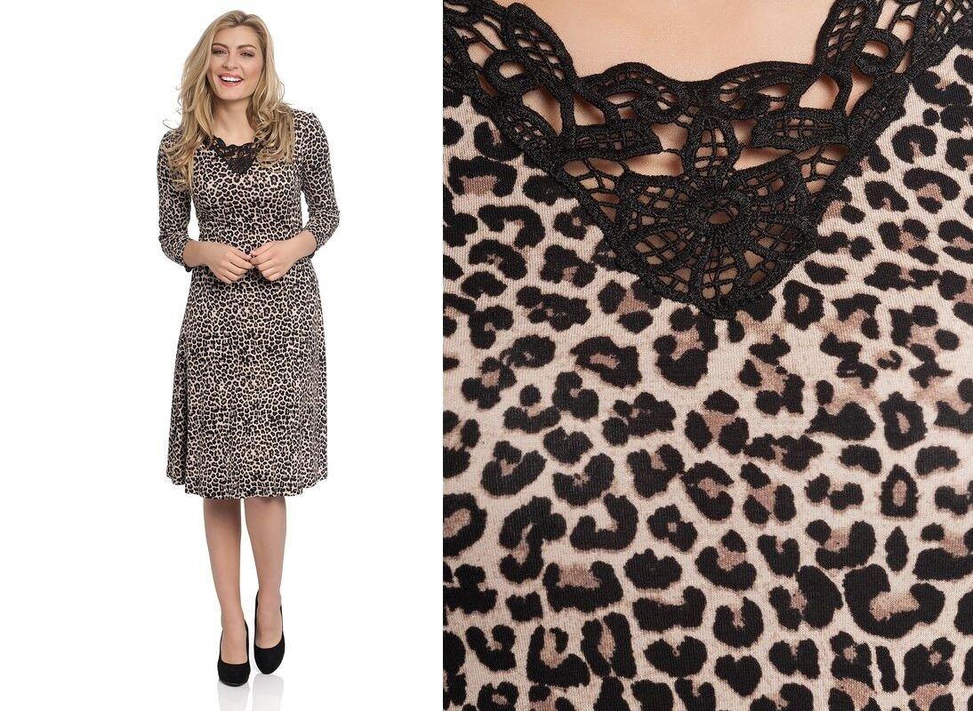 Vive Maria Dress Leopard Pattern Leopard Auschnitt Crochet Nuit Sauvage Dress
