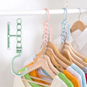 Crochet-Multi-Cintres-Cintre-Rangement-De-Garde-Robe-Penderie-Armoire-Portant