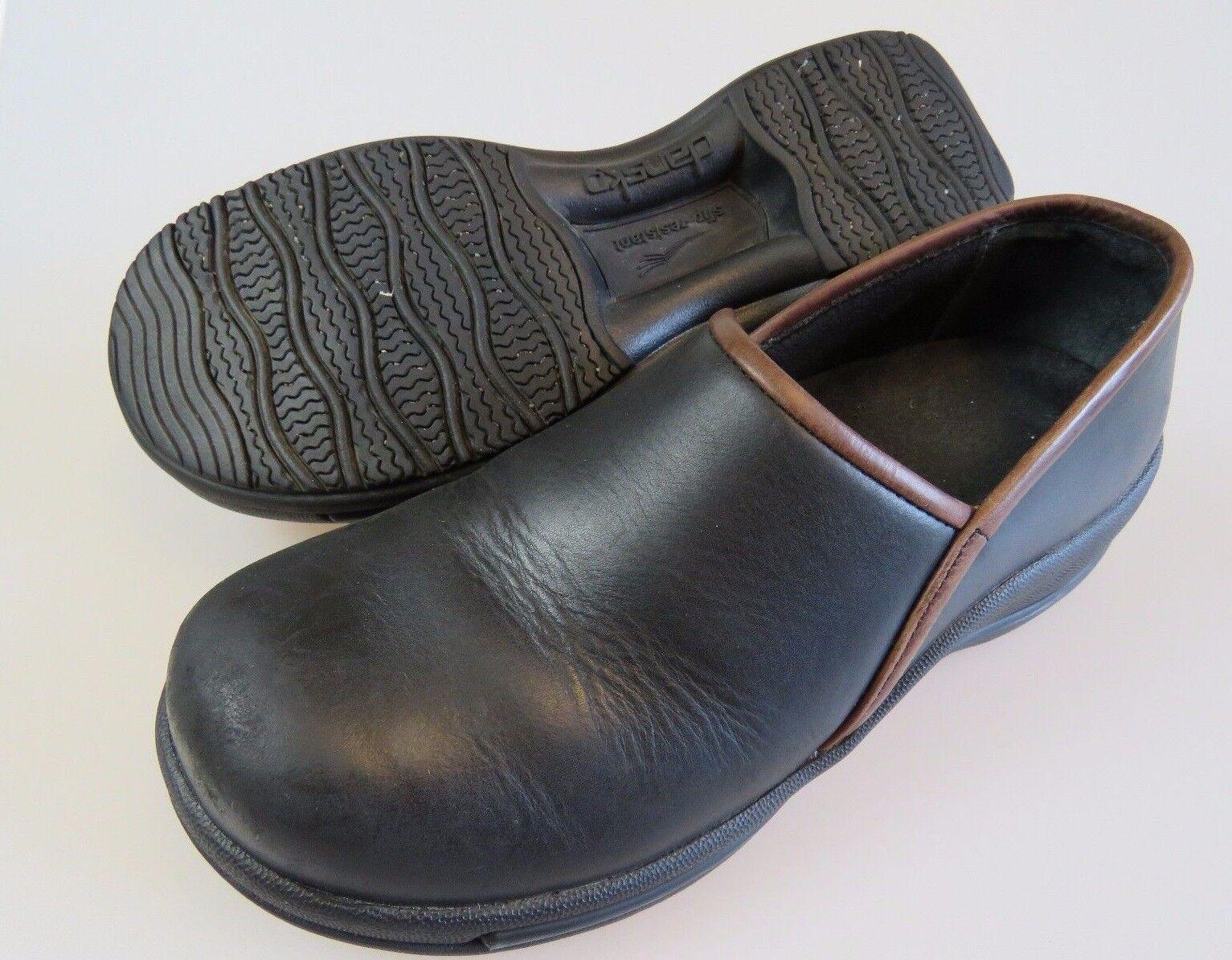 DANSKO Dark Brown/Black Slip Resistant Occupational Shoes Women's US 7.5-8