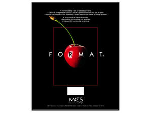 MCS Format Frame 3-1/2x5 Black (Same Shipping Any Qty)