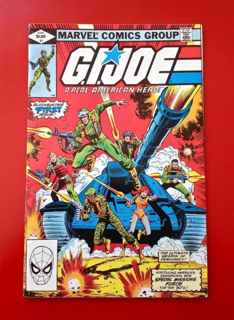 G.I. Joe #1  Marvel Comic Book Gi Joe 1982 Bronze Age 1