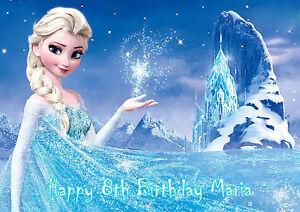 Personalized Princess Elsa Anna Frozen Olaf Birthday Card Free