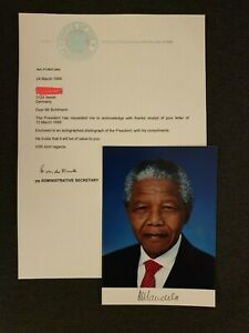 Nelson-Mandela-South-Africa-President-Signed-Autograph-Photo-Secretary-Letter
