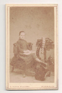 Vintage-CDV-Mary-Child-of-Marcia-Gabb-amp-Charles-P-Lewis-Williams-Photo-Monmouth