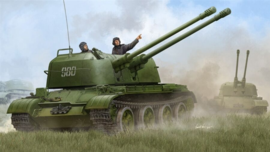 Trumpeter 1 35 Russian ZSU-57-2 SPAAG New ReleaseSealed