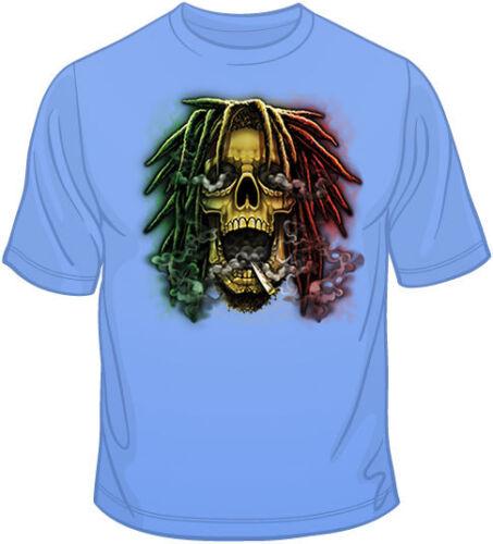 Color 10744 Rasta Skull Size T Shirt You Choose Style oversized skull