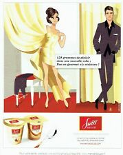 Publicité Advertising 067  2013  yaourt chocolat Swiss Delice